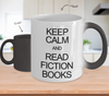 Image of Color Changing Mug Reader Theme Keep Calm And Read Fiction Books