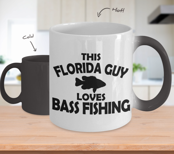 Color Changing Mug Hunting Theme This Florida Guy Loves Bass Fishing