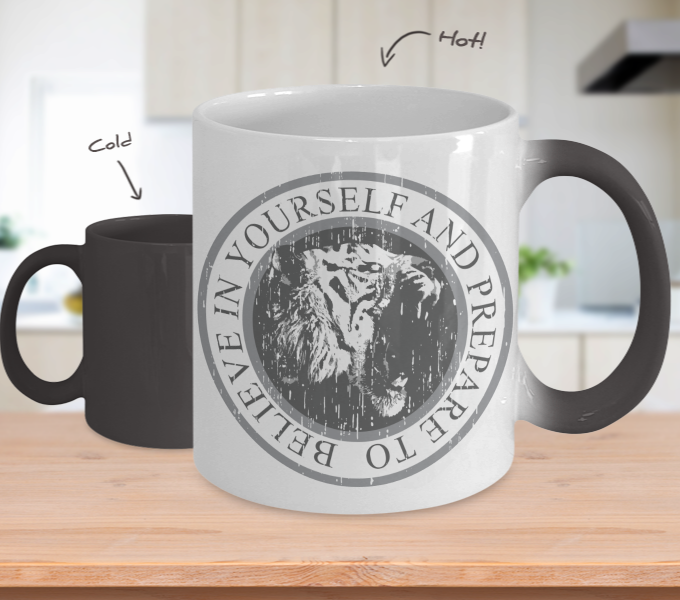 Color Changing Mug Animals Believe In Yourself And Prepare To