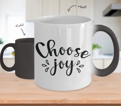 Color Changing Mug Funny Mug Inspirational Quotes Novelty Gifts Choose Joy