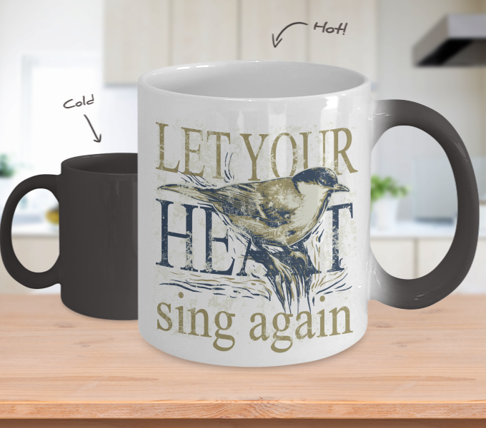 Color Changing Mug Animals Let Your Heart Sing Again