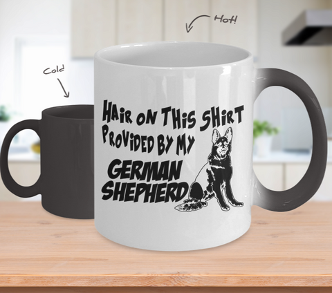 Color Changing Mug Dog Theme Hair On This Shirt Provided By My German Shepherd