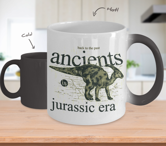 Color Changing Mug Animals Back To The Past Ancients Jurassic Era
