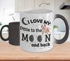 Image of Color Changing Mug Dog Theme I Love My Pittie To The Moon And Back