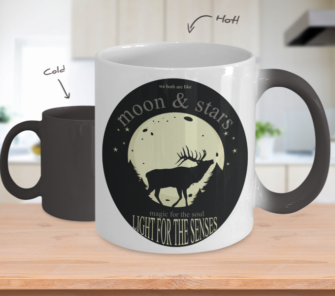 Color Changing Mug Animals Moon & Stars Light For The Senses