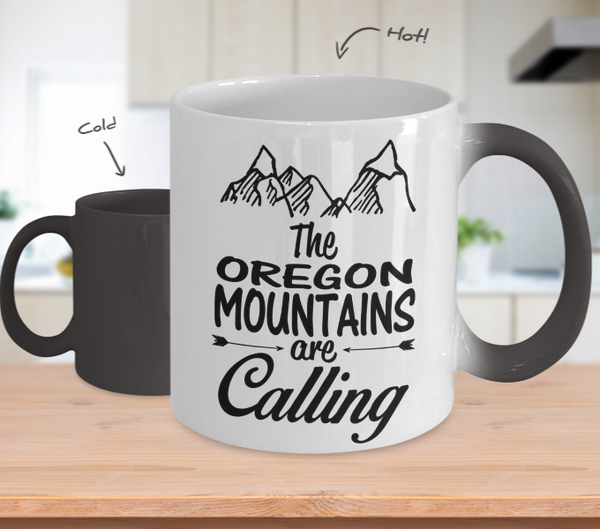 Color Changing Mug Mountainers Theme The Oregon Mountains Are Calling