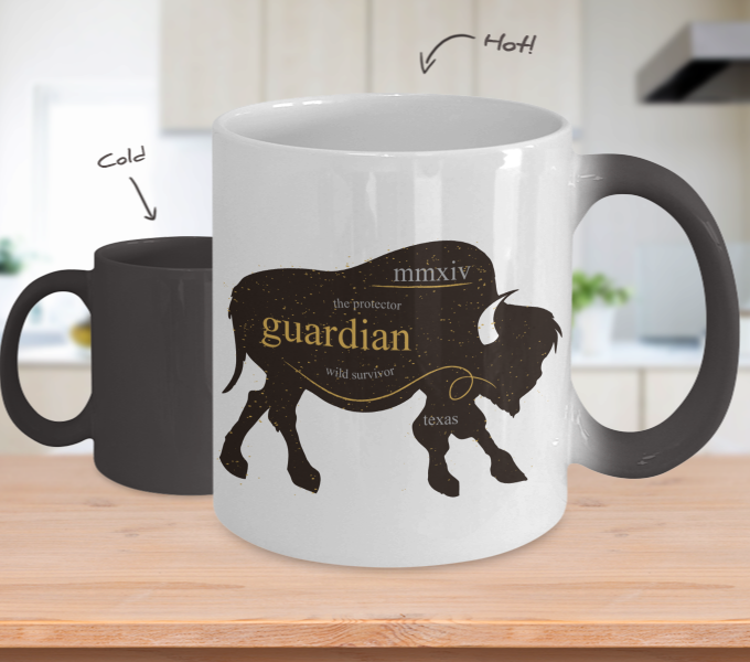 Color Changing Mug Animals The Protector Guardian Wild Survivor
