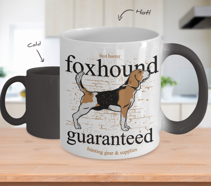 Color Changing Mug Animals Best Hunter Fox Hound Guaranteed
