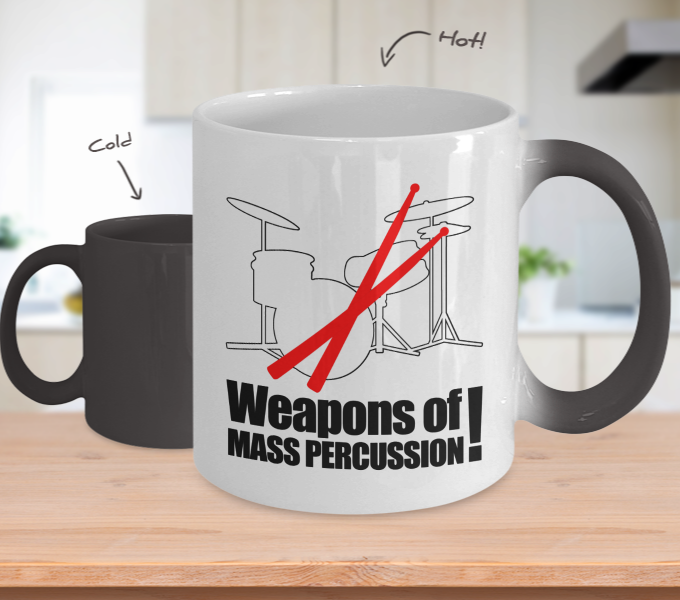 Color Changing Mug Music Theme Weapon Of Mass Percussion