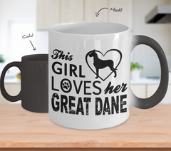 Color Changing Mug Dog Theme This Girl Loves Her Great Dane