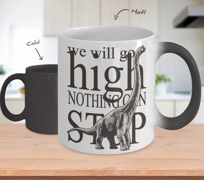 Color Changing Mug Animals We Will Go High Nothing Can Stop