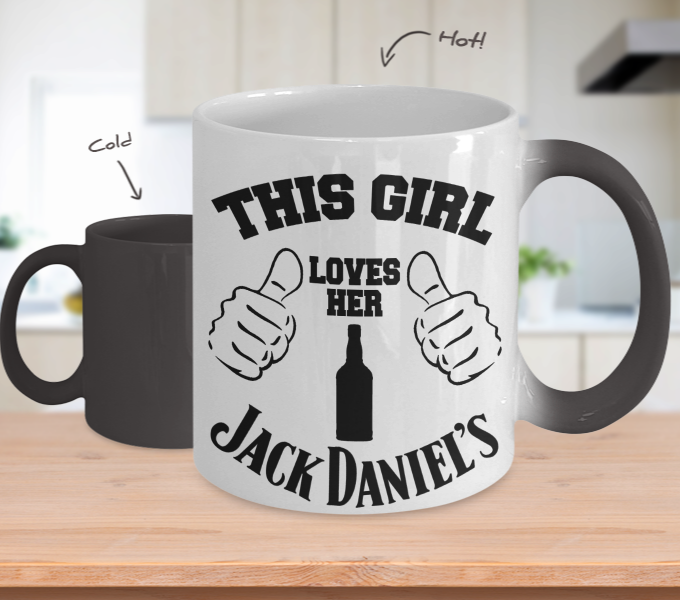 Color Changing Mug Drinking Theme This Girl Loves Her Jack Daniel's