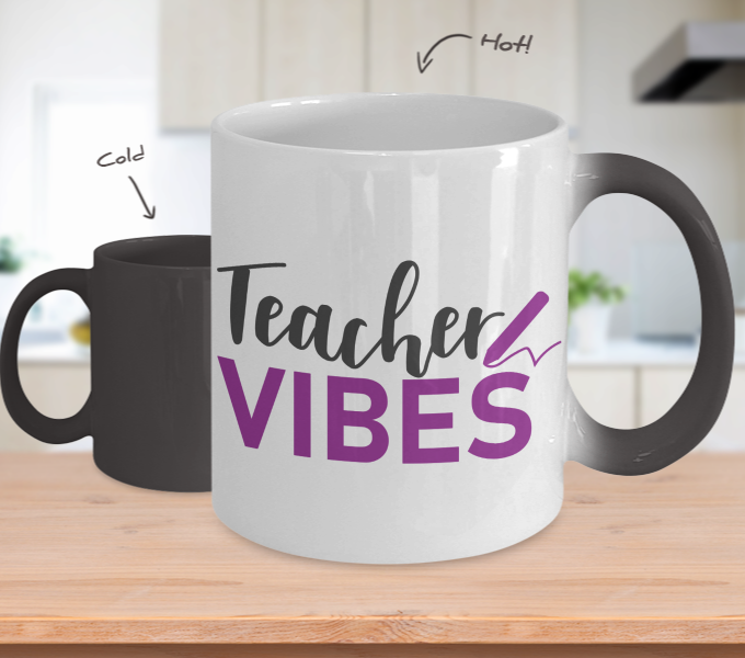 Color Changing Mug Mom Teacher Vibes