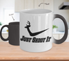 Image of Color Changing Mug Hunting Theme Just Shoot It