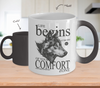Image of Color Changing Mug Animals Life Begins At The End Of Your Comfort Zone