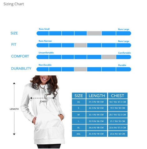 Studio11Couture Women Hoodie Dress Hooded Tunic White Rabbit Alice In Wonderland Athleisure Sweatshirt