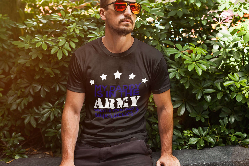 My Daddy Is In The Army Men Tee - STUDIO 11 COUTURE