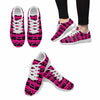 Image of Model020 Women's Sneaker 80s Cassette Tapes Hot Pink and Black - STUDIO 11 COUTURE