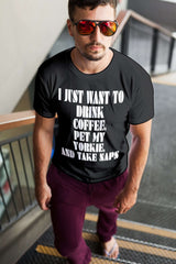 Drink Coffee Pet My Yorkie Men Tee - STUDIO 11 COUTURE