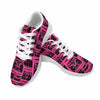 Image of Model020 Women's Sneaker 80s Boombox Hot Pink and Black - STUDIO 11 COUTURE