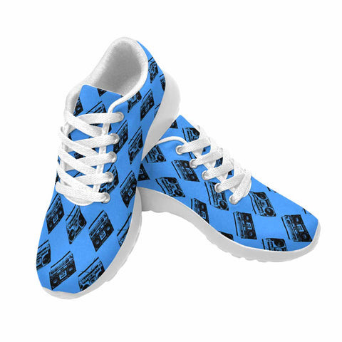 Model020 Women's Sneaker 80s Boombox Blue - STUDIO 11 COUTURE