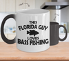 Image of Color Changing Mug Hunting Theme This Florida Guy Loves Bass Fishing