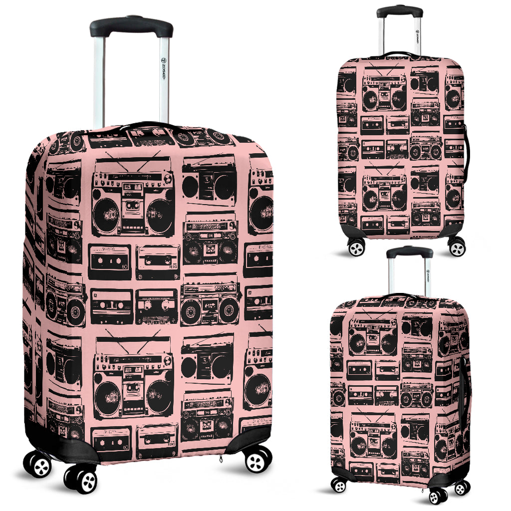 80s Boombox 5 Luggage Cover - STUDIO 11 COUTURE