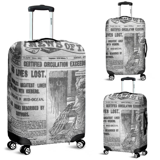 News Of The Week Old Newspaper Luggage Cover