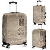 Old Newspaper 3 Luggage Cover
