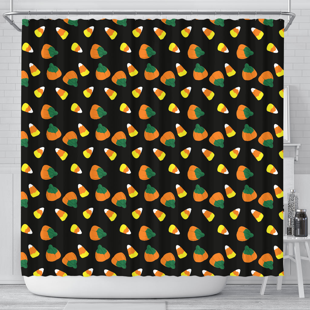 Candy Corn Halloween Shower Curtain