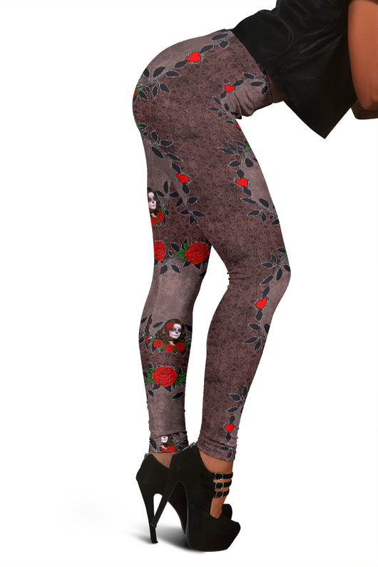 Women Leggings Sexy Printed Fitness Fashion Gym Dance Workout Sugar Skull Theme I14