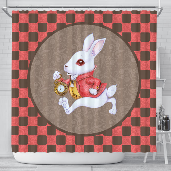 The White Rabbit Alice In Wonderland Shower Curtain