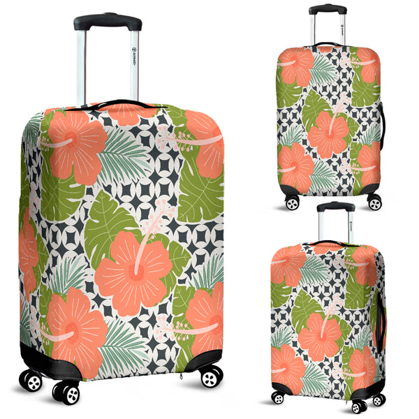 Tropical Flower Luggage Cover - STUDIO 11 COUTURE