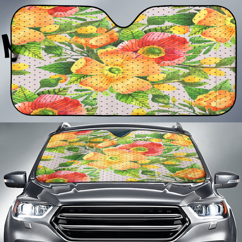 Amazing Floral Spring Auto Sun Shades