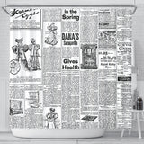 Old Newspaper 1 Shower Curtain - STUDIO 11 COUTURE
