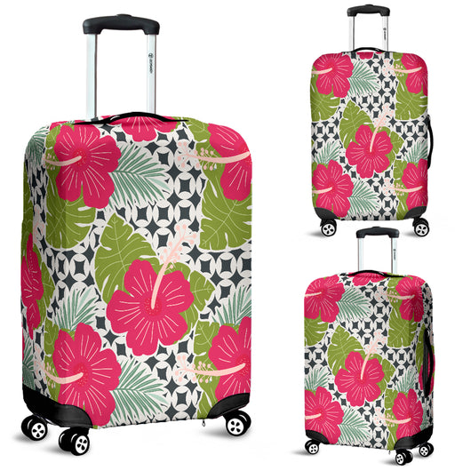 Tropical Flower 1 Luggage Cover - STUDIO 11 COUTURE