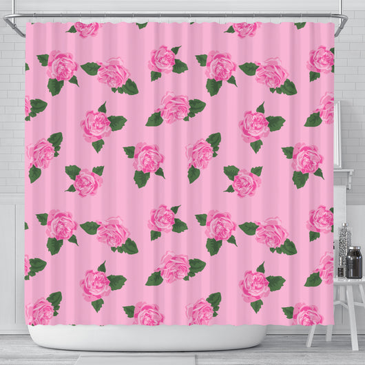 Pink Rose Shower Curtain - STUDIO 11 COUTURE