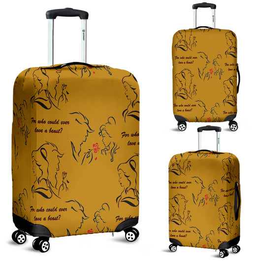 Beauty And The Beast Love Luggage Cover - STUDIO 11 COUTURE