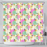 Floral Spring Shower Curtain - STUDIO 11 COUTURE