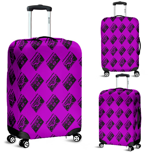 80s Boombox 11 Luggage Cover - STUDIO 11 COUTURE