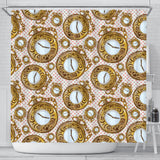 Alice In Wonderland Pocket Watch Shower Curtain