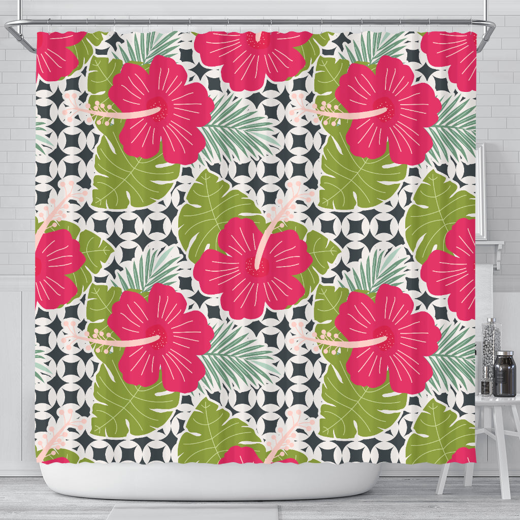Tropical Flower Shower Curtain - STUDIO 11 COUTURE