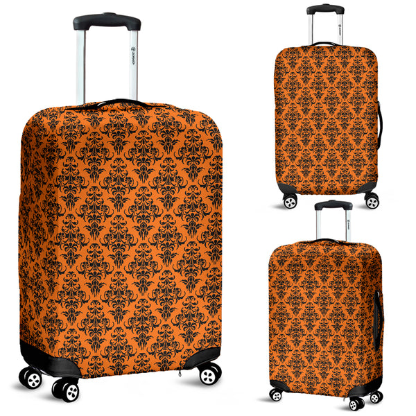 Damask Halloween Gothic Luggage Cover