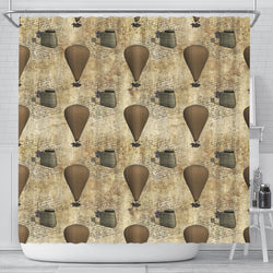 Steampunk Shower Curtain - STUDIO 11 COUTURE