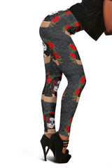 Women Leggings Sexy Printed Fitness Fashion Gym Dance Workout Sugar Skull Theme I10