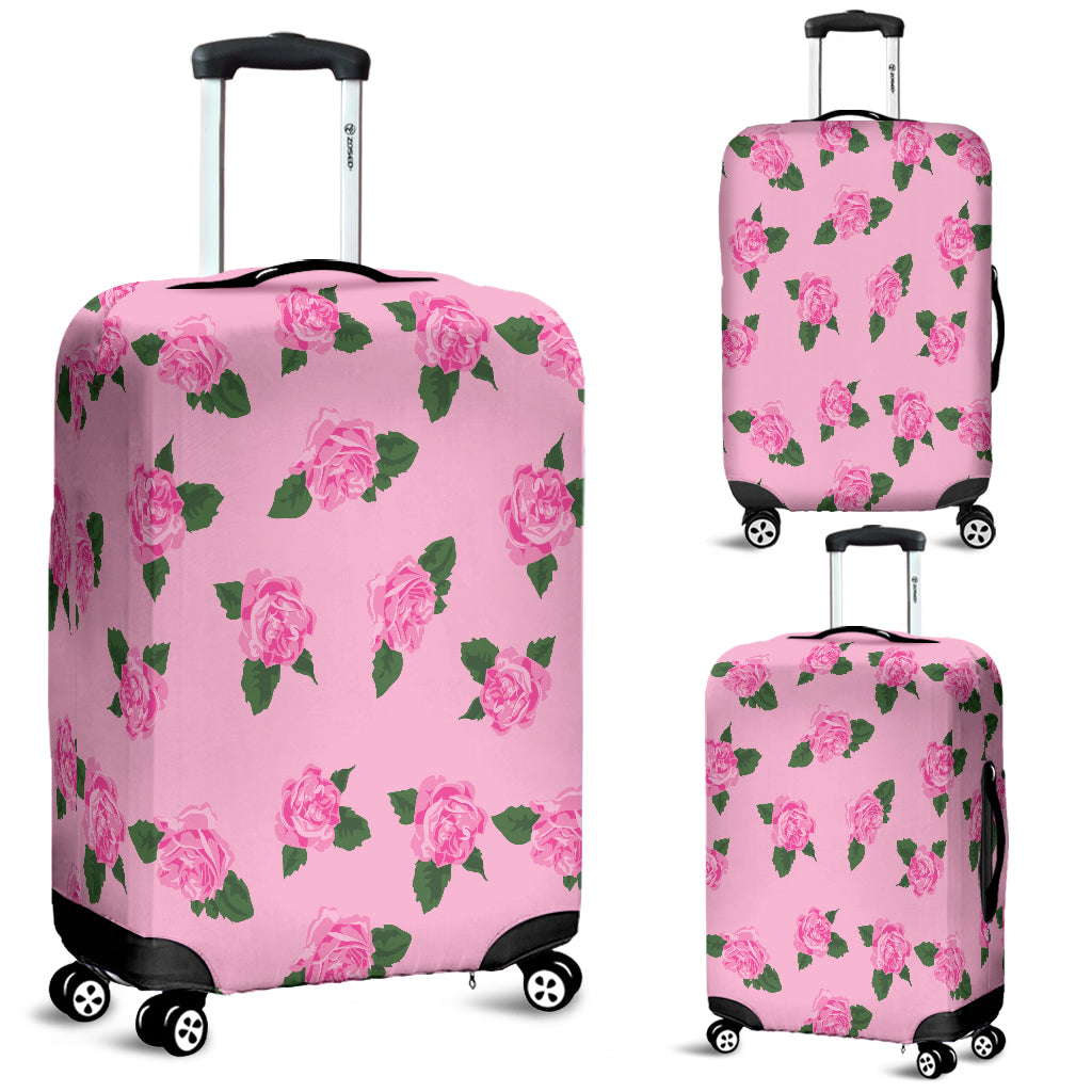 Pink Rose Big Luggage Cover - STUDIO 11 COUTURE