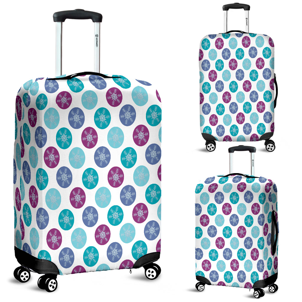 Frozen Snow Flakes Luggage Cover - STUDIO 11 COUTURE