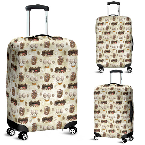 Vintage Mechanical Train Steampunk Luggage Cover