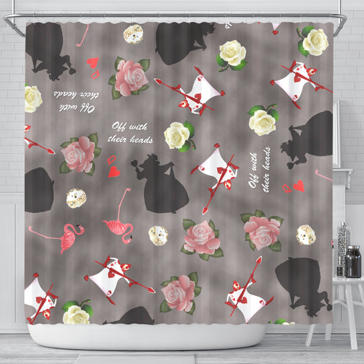 Queen of Heart Alice In Wonderland Shower Curtain