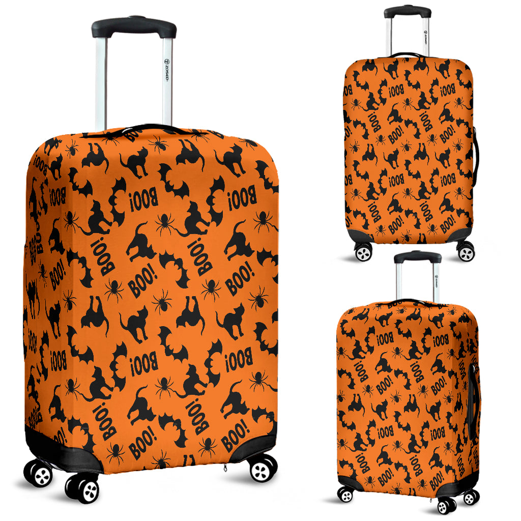 Black Cat Halloween Luggage Cover
